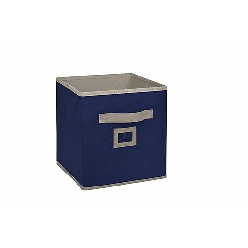 Cube tiroir en tissu, 101/2po, bleu marine