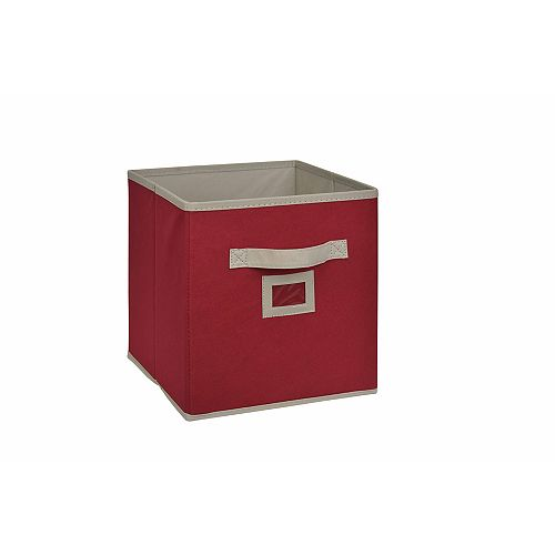 10.5-inch Fabric Drawer Cube in Red