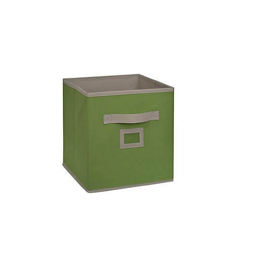 10.5-inch Fabric Drawer Cube in Green