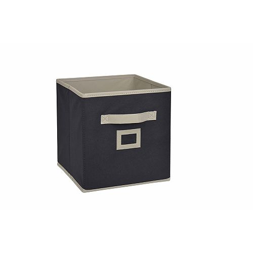 10.5-inch Fabric Drawer Cube in Black