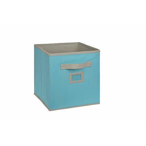 10.5-inch Fabric Drawer Cube in Sky Blue