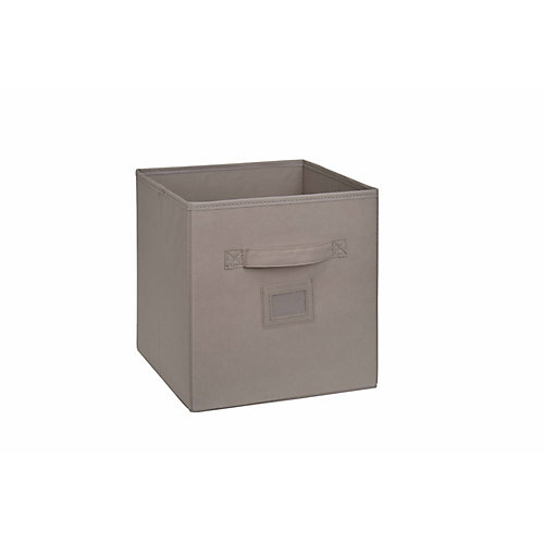 10.5-inch Fabric Drawer Cube in Beige