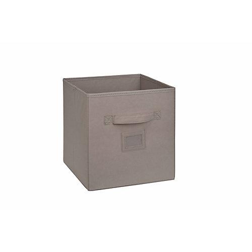 Cube tiroir en tissu, 101/2po, beige