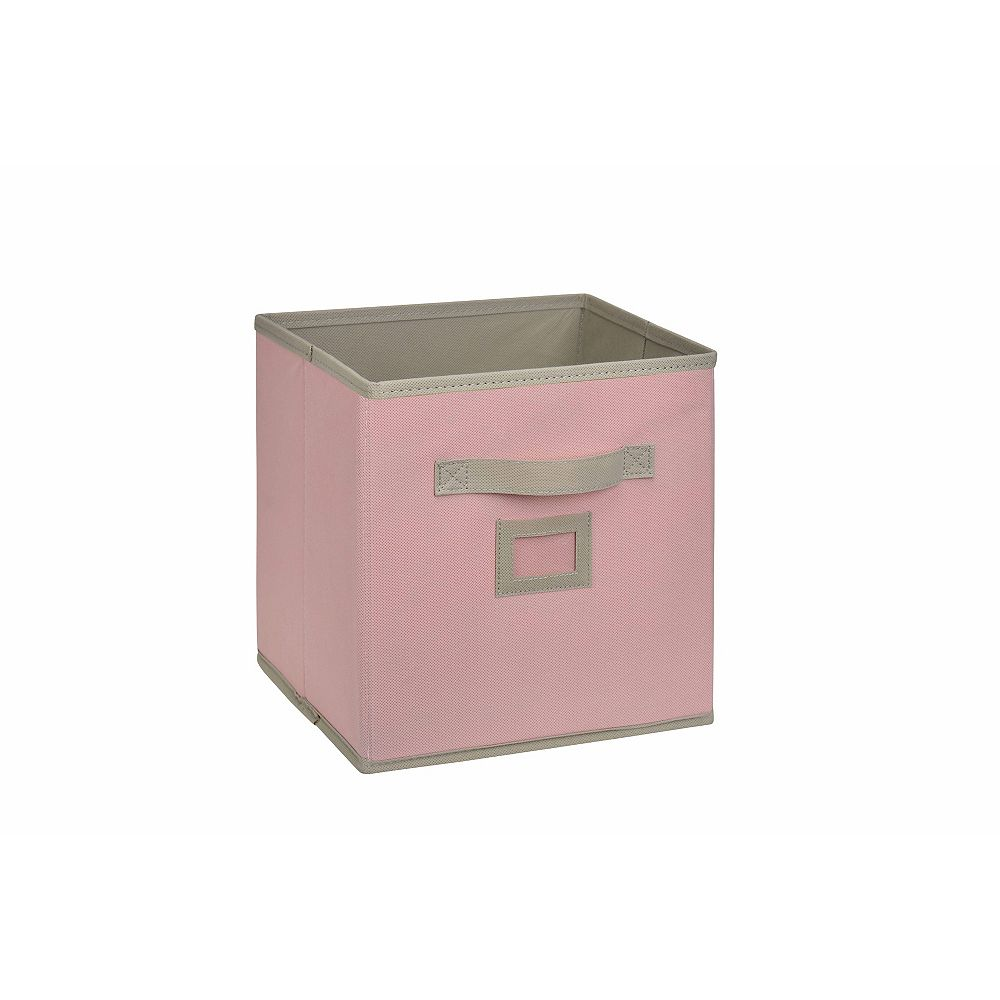 HDG 10.5-inch Fabric Drawer Cube in Pink