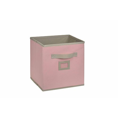 10.5-inch Fabric Drawer Cube in Pink