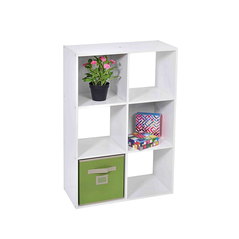 HDG 24-inch x 36-inch x 12-inch 6-Shelf Storage Console in White