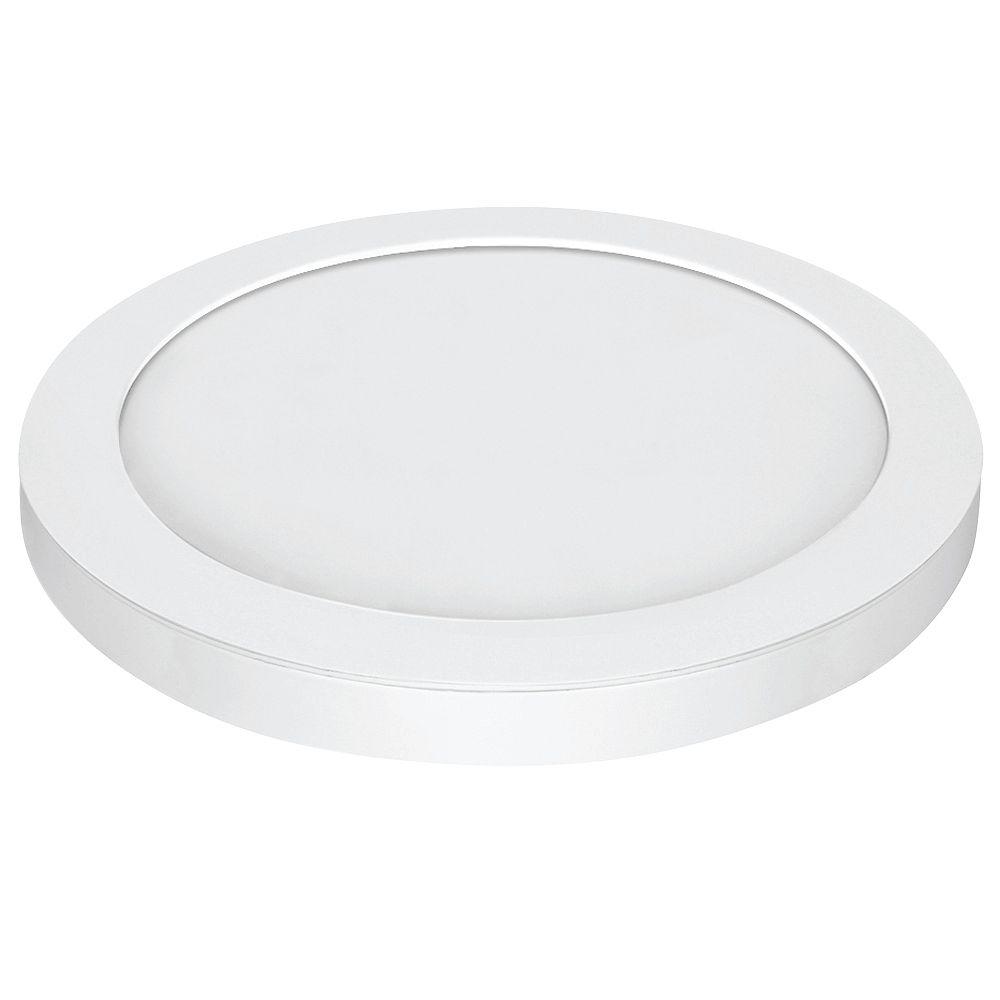 Feit Electric 15-inch LED Round Edge Lit Flushmount Light Fixture in White Trim - ENERGY STAR®