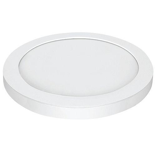 Plafonnier encastré à DEL, à bord rond et garniture blanche certifié ENERGY STAR, 15 po