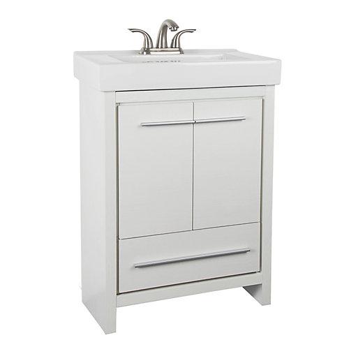Meuble-lavabo avec dessus en céramique Romali, 24 1/8 po L x 14 1/8 po P x 34 1/8 po H