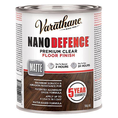 Varathane Nano Defence Fini Pour Planchers À Base D'Eau En Clair Mat - 946 Ml