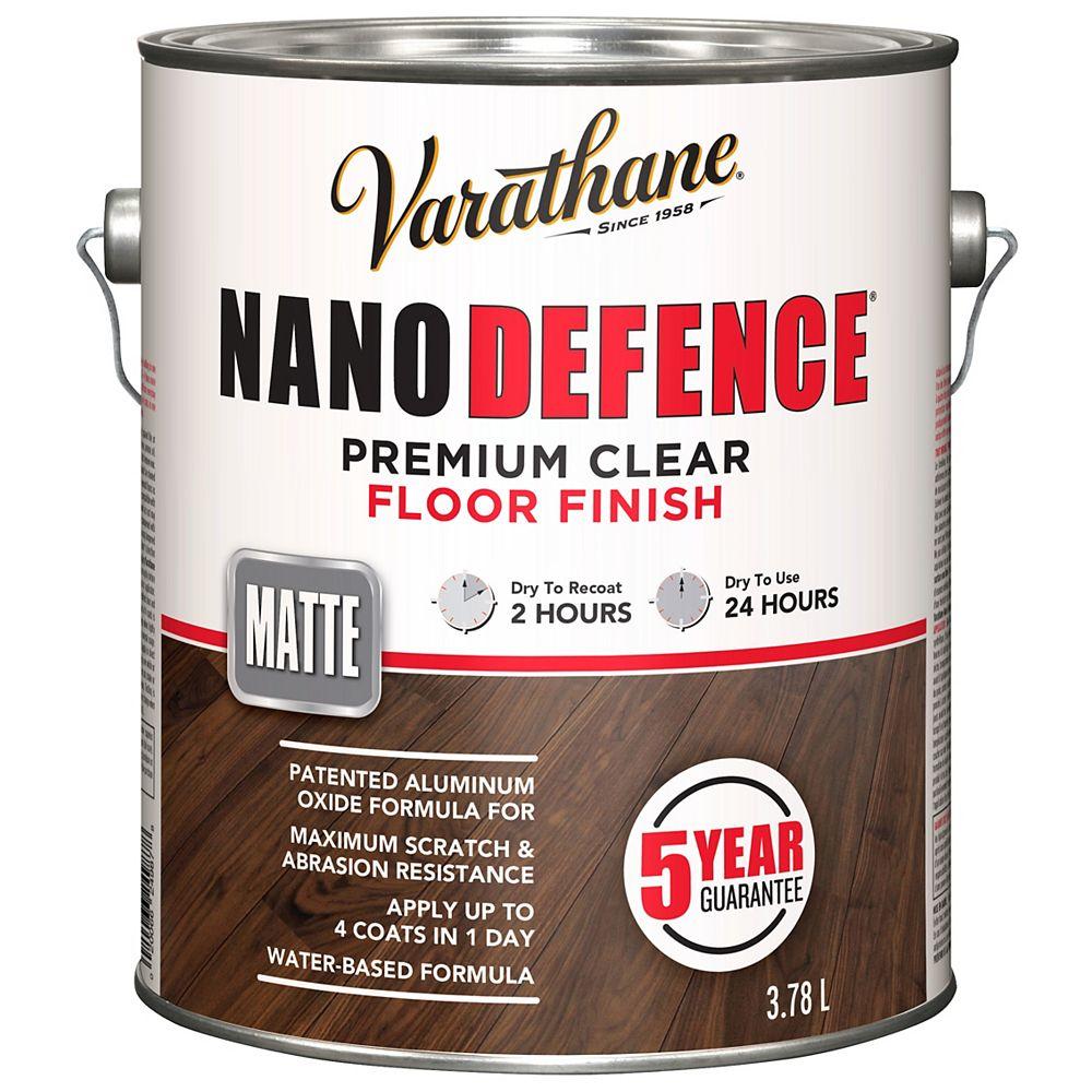 Varathane Nano Defence Nano Defence Premium Clear Floor Finish In Matte Clear, 3.78 L
