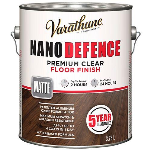 Nano Defence Fini Pour Planchers À Base D'Eau En Clair Mat - 3.78 L