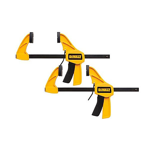 6-inch 100 lb. Trigger Clamps (2-Pack) w/2.43 in Throat Depth
