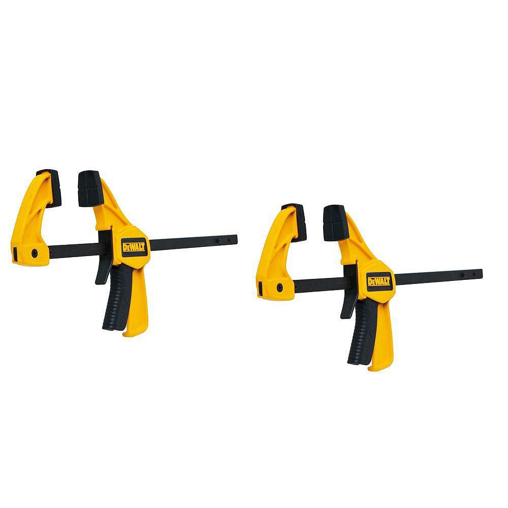 DEWALT 4.5-inch 35 lb. Trigger Clamps (2-Pack) w/1.5 in Throat Depth
