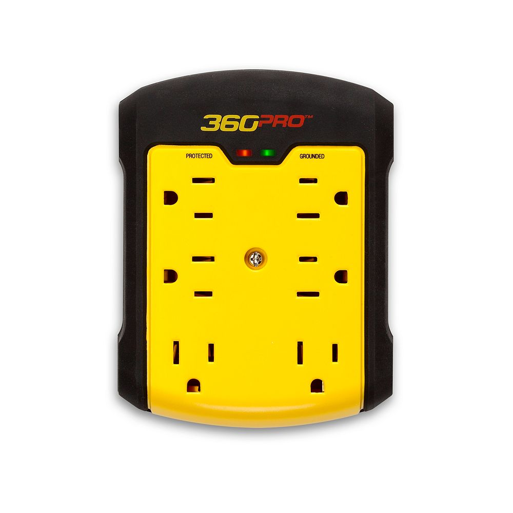 360 Electrical 360 Pro 6-Outlet Surge Wall Tap