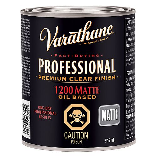 Varathane Professional Premium Clear Finish In Matte Clear, 946 Ml