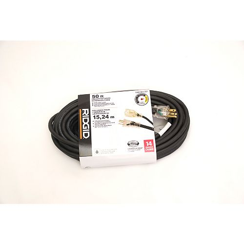 OUTDOOR EXTENSION CORD 14 GA. 50FT SINGLE LITED END