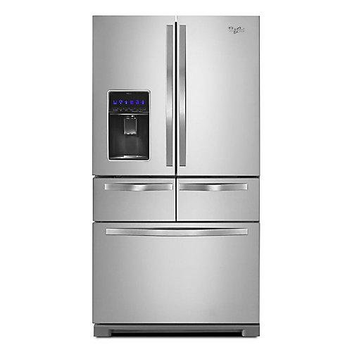 36-inch W 26 cu. ft. Multi-Door French Door Refrigerator in Stainless Steel