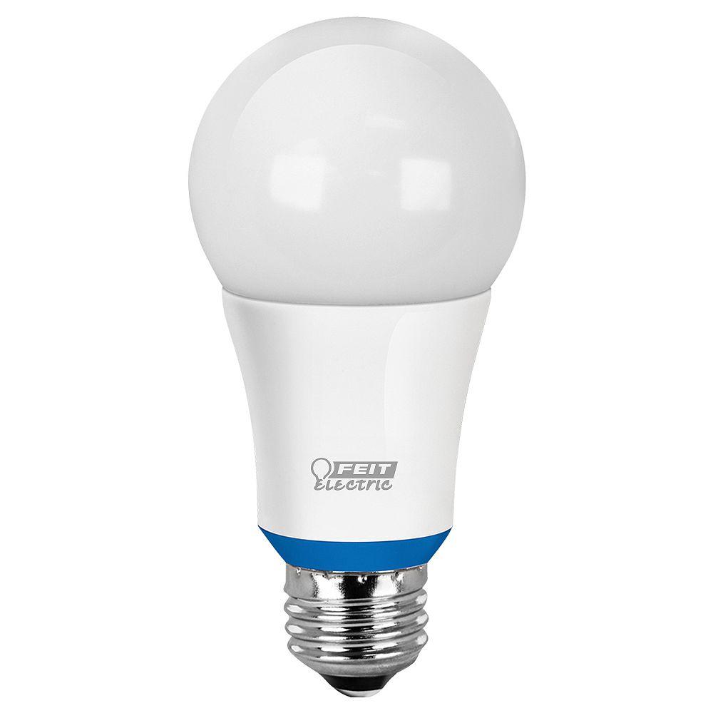 Feit Electric Ampoule à DEL A19 intelligente compatible Bluetooth, réglable avec l'application HomeBrite, d'un blanc doux équivalant à une ampoule de 60W