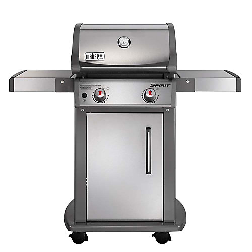 Spirit S-210 2-Burner Propane Gas BBQ in Stainless Steel with Built-In Thermometer