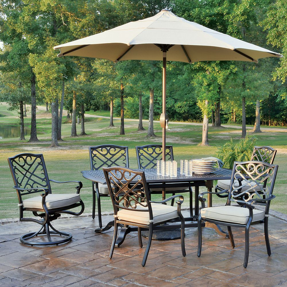 Foremost Harmony 9-Piece Patio Dining Set | The Home Depot Canada