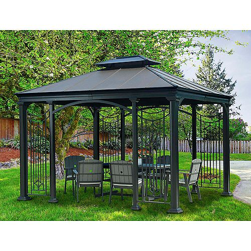 Branson 10 ft. x 12 ft. Gazebo with Vented Canopy in Copper