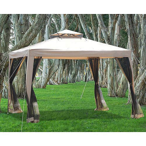 Seretti 10 ft. x 10 ft. Soft Top Gazebo with Vented Canopy