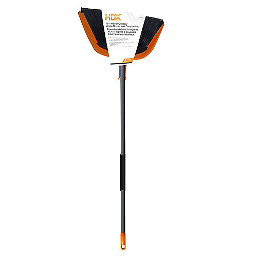 Jumbo 15-inch Angle Broom with Dustpan