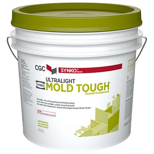 UltraLight Mold Tough Drywall Compound, 13.5 L Pail