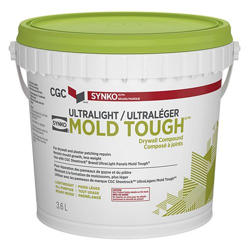 UltraLight Mold Tough Drywall Compound, 3.6 L Pail