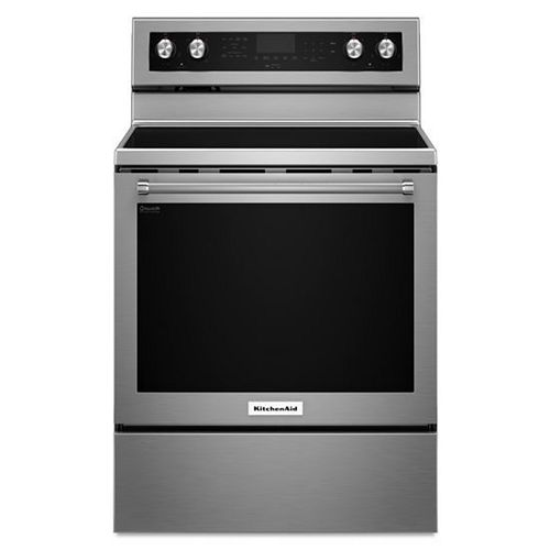 KitchenAid 6.4 cu. ft. Electric Range with Self-Cleaning Convection Oven in Stainless Steel