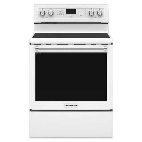 KitchenAid 6.4 cu. ft. Electric Range with Self-Cleaning Convection Oven in White