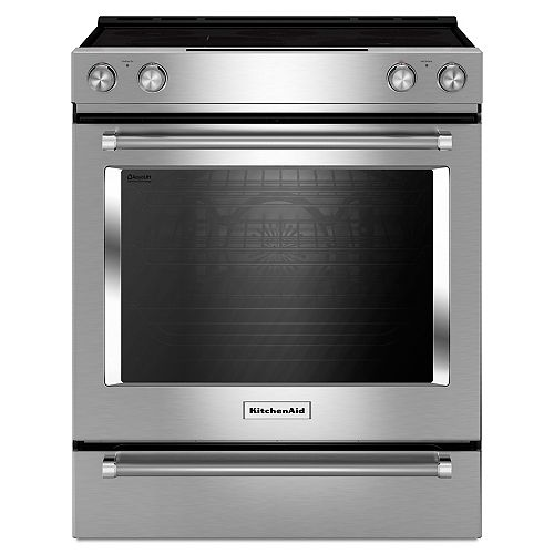 KitchenAid 7.1 cu.ft. Electric Range with Self-Cleaning Convection Oven in Stainless Steel