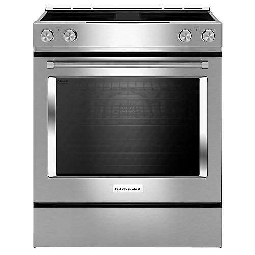 6.4 cu. ft. Electric Range with Self-Cleaning Convection Oven and Downdraft in Stainless Steel