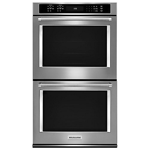 30-inch 10 cu. ft. Double Electric Wall Oven Self-Cleaning with Convection in Stainless Steel