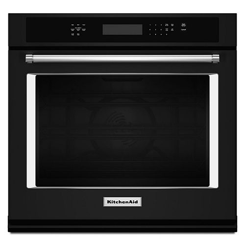 27-inch 4.3 cu. ft. Single Electric Wall Oven Self-Cleaning with Convection in Black