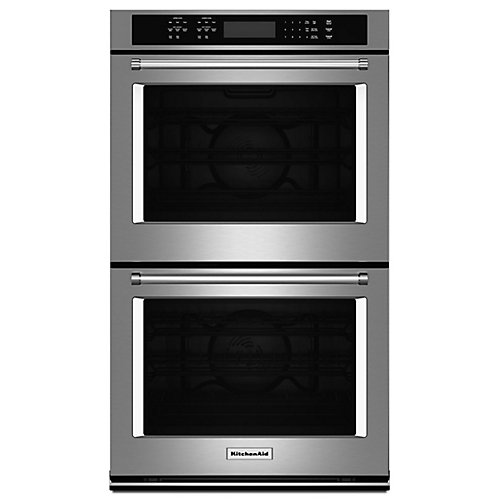 27-inch 8.6 cu. ft. Double Electric Wall Oven Self-Cleaning with Convection in Stainless Steel