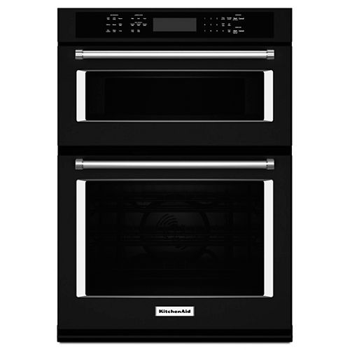 30-inch 5.0 cu. ft. Double Electric Wall Oven & Microwave with Convection in Black