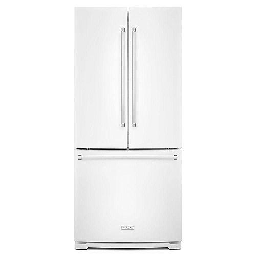 KitchenAid 30-inch W 20 cu. ft. French Door Refrigerator in White