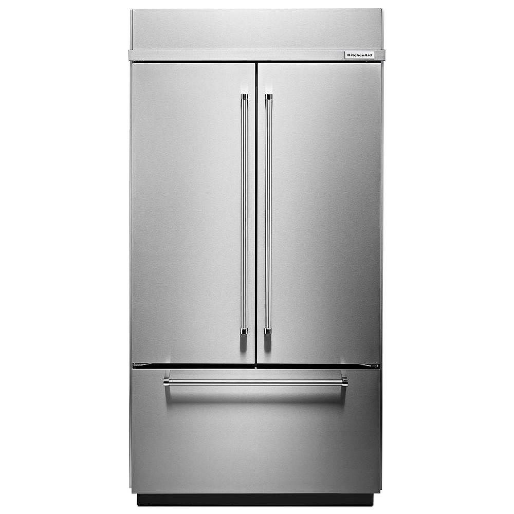 8-inch W 8.8 cu. ft. Built-In French Door Refrigerator in Stainless Steel  with Platinum Interior