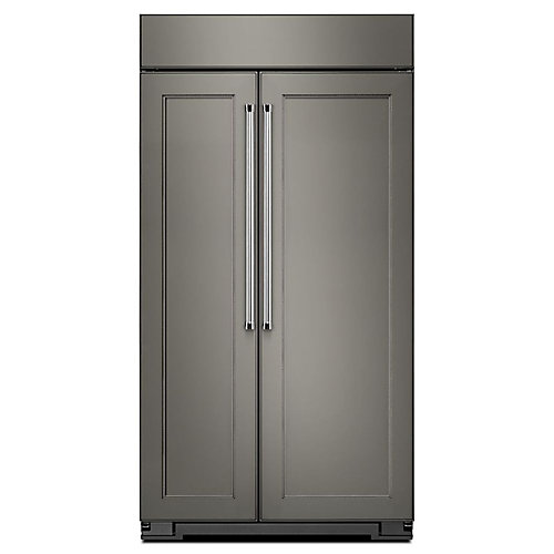 42-inch W 25.5 cu. ft. Built-In Side by Side Refrigerator in Panel Ready
