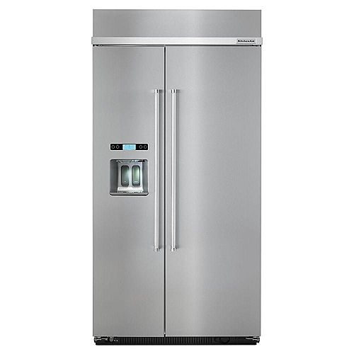 42-inch W 25 cu. ft. Built-In Side by Side Refrigerator in Stainless Steel - ENERGY STAR®