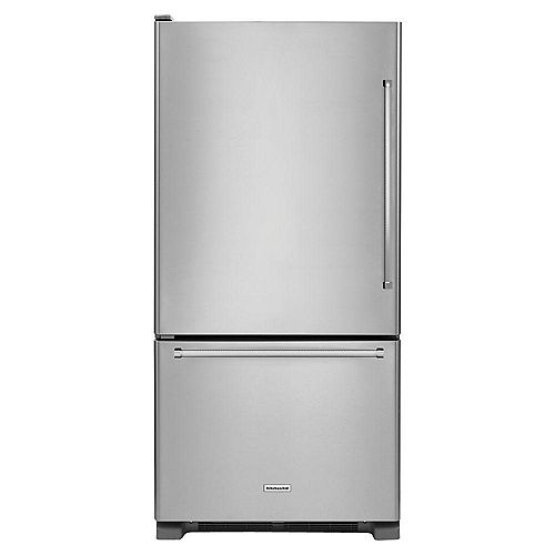 30-inch W 19 cu.ft Bottom Freezer Refrigerator in Stainless Steel - ENERGY STAR®