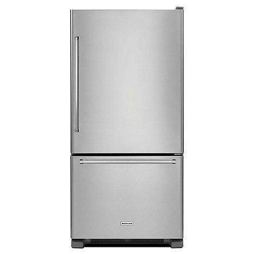 Réfrigérateur inférieur en acier inoxydable de 30 po W 19 pi3 - ENERGY STARMD