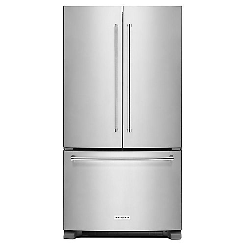 36-inch W 20 cu.ft. French Door Refrigerator in Stainless Steel, Counter-Depth - ENERGY STAR®