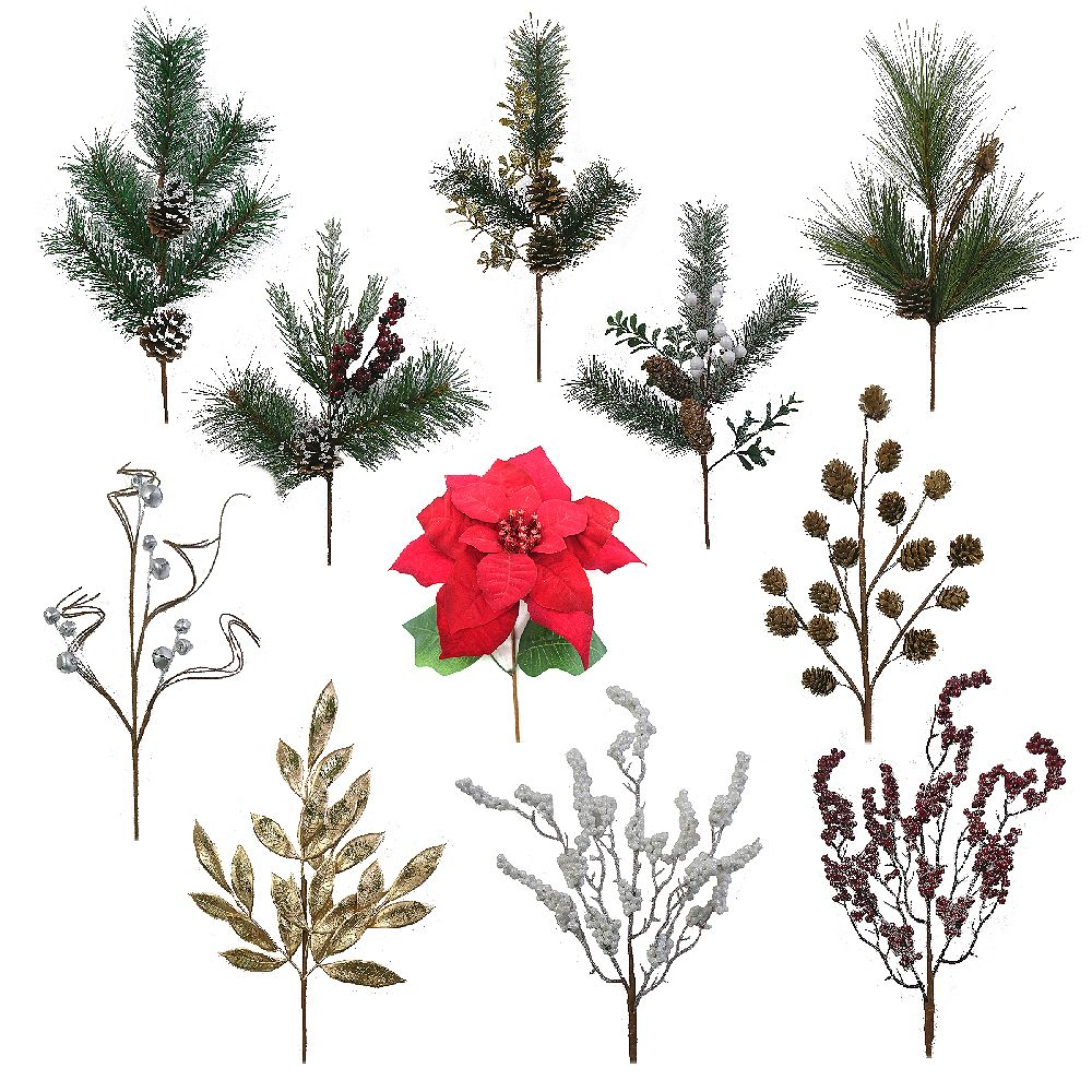 Home Accents 20-inch Decorative Christmas Spray