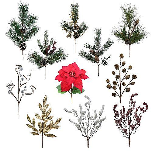 20-inch Decorative Christmas Spray