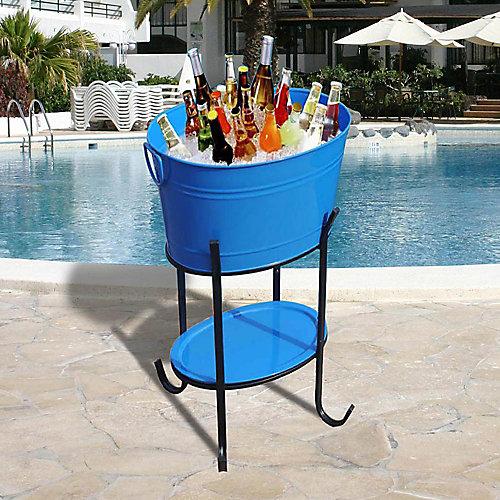 Capri Oval Party Tub Blue