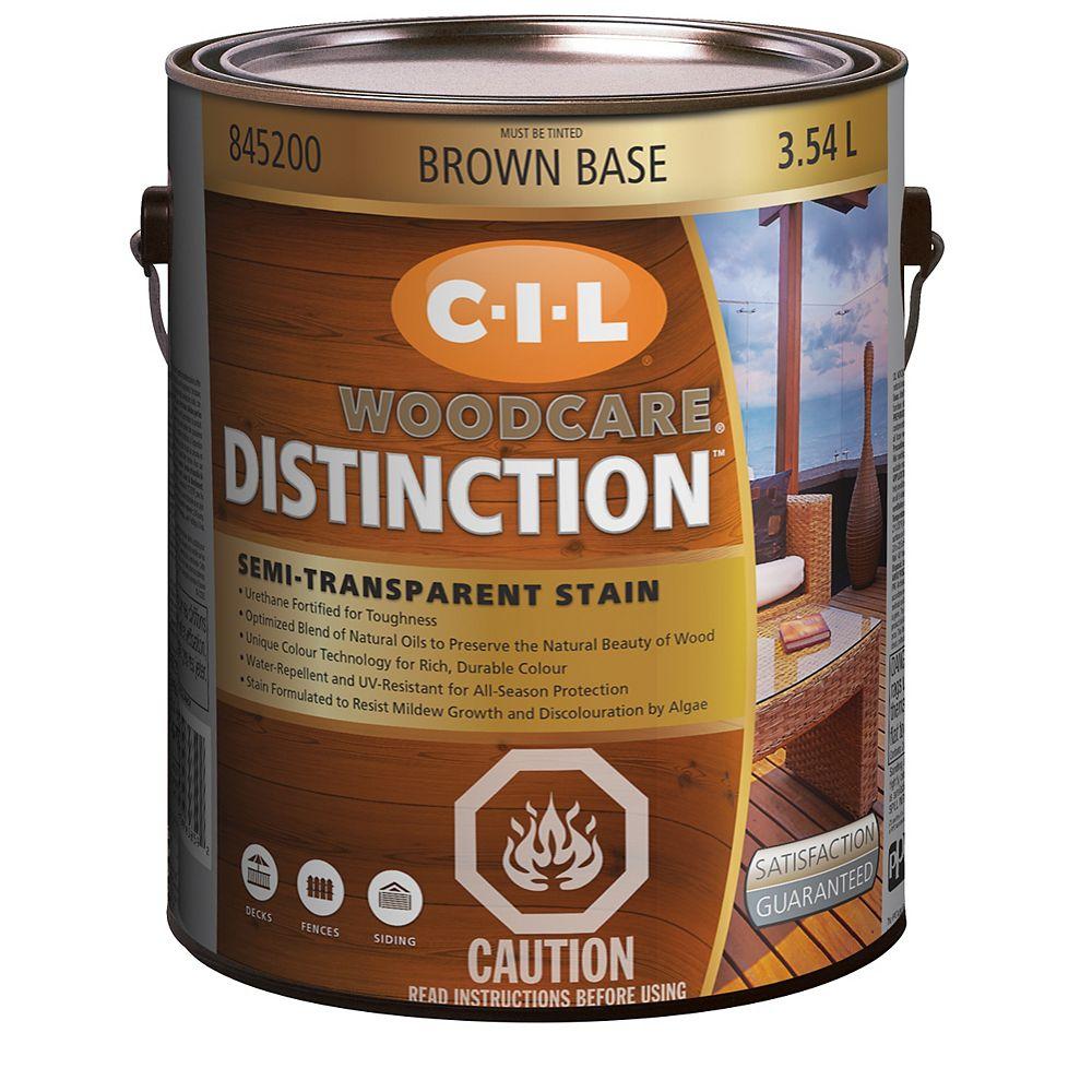 CIL Woodcare Distinction Semi-Transparent - Brown Base 3.54 L-845200