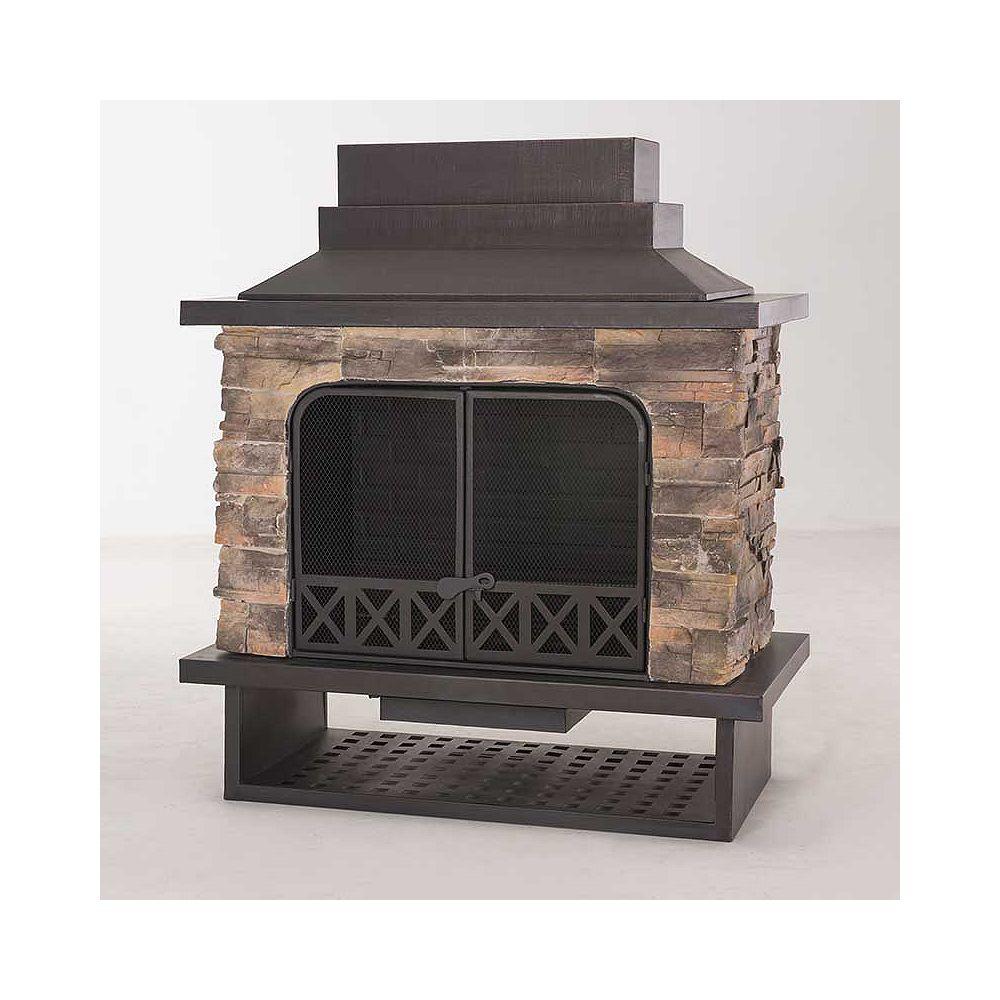 Sunjoy Huntsville Outdoor Fireplace The Home Depot Canada